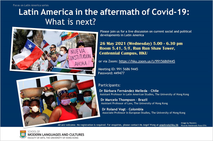 [May 26] Latin America in the aftermath of Covid-19: What is next?