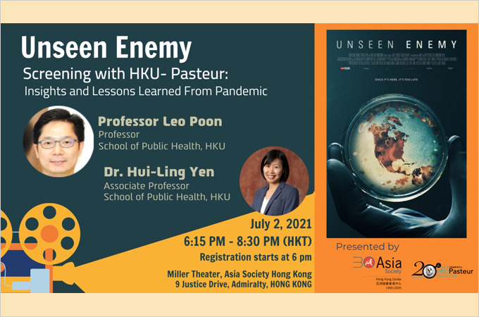 [Jul 2] Unseen Enemy: Film Screening with HKU-Pasteur Research Pole